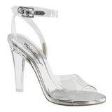 Gennemsigtig 11,5 cm CLEARLY-406 højhælede sandaler til kvinder