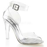 Gennemsigtig 11,5 cm CLEARLY-430 højhælede sandaler til kvinder