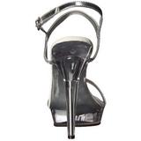 Gennemsigtig 13 cm LIP-117 damesko med høj hæl