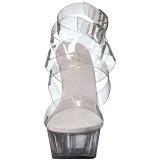 Gennemsigtig 15 cm DELIGHT-635 højhælede sandaler til kvinder