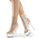 Gennemsigtig 15 cm KISS-1018C ankelstøvler damer med plateausål