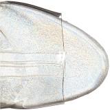 Gennemsigtig 15 cm STARDANCE-1018C-7 ankelstøvler damer med plateausål