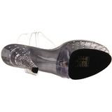 Gennemsigtig 15 cm STARDUST-608 damesko med høj hæl