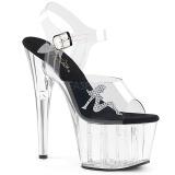 Gennemsigtig 18 cm ADORE-708RSTG højhælede sandaler til kvinder