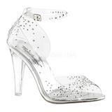 Gennemsigtig Krystal Sten 11,5 cm CLEARLY-430RS højhælede sandaler til kvinder