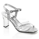 Gennemsigtig Krystal Sten 8,5 cm ROMANCE-308R højhælede sandaler til kvinder