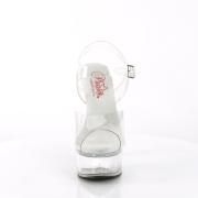 Gennemsigtige sandaler 15 cm GLEAM-608 højhælede sandaler plateau