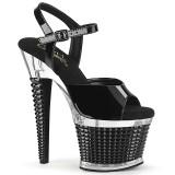 Gennemsigtige sandaler 18 cm SPECTATOR-709 højhælede sandaler plateau