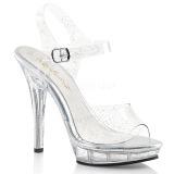 Glimmer 13 cm Fabulicious LIP-108MMG højhælede sandaler til kvinder