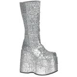 Glitter 18 cm STACK-301G Plateau Gothic Støvler til Mænd