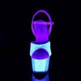 Glitter plateau 18 cm ADORE-710UVG højhælede sandaler - pole dance sandaler