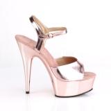 Gold 15 cm DELIGHT-609 platform pleaser high heels shoes