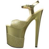 Gold Glitter 20 cm Pleaser FLAMINGO-809-2G High Heels Platform