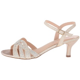 Gold Rhinestone 6,5 cm AUDREY-03 High Heeled Evening Sandals