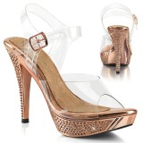 Gold Rose 11,5 cm ELEGANT-408 Bikini posing high heel shoes fabulicious