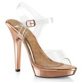 Gold Rose 13 cm LIP-108 poserer sko - bikini fitness konkurrence høje hæle