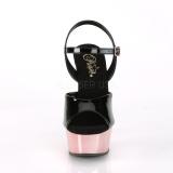 Gold chrome platform 15 cm DELIGHT-609 pleaser high heels shoes