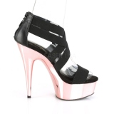 Gold chrome platform 15 cm DELIGHT-669 pleaser womens shoes