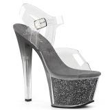 Gray 18 cm SKY-308G-T glitter platform sandals shoes