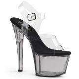 Gray 18 cm SKY-308T Acrylic platform high heels shoes