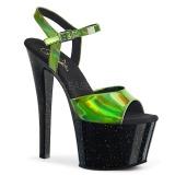 Green 18 cm SKY-309HG Hologram platform high heels shoes