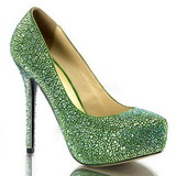 Green Rhinestone 13 cm PRESTIGE-20 Platform Pumps Women Shoes