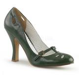 Grøn 10 cm SMITTEN-20 Pinup pumps sko med lave hæle