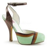 Grøn 11,5 cm CUTIEPIE-01 Pinup sandaler med skjult plateau