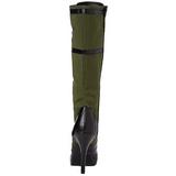 Grøn 11,5 cm FUNTASMA ARENA-2022 Høje Dame Støvler med snøring