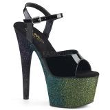 Grøn 18 cm ADORE-709OMBRE glitter plateau sandaler sko