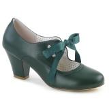 Grøn 6,5 cm WIGGLE-32 Pinup pumps sko med blokhæl