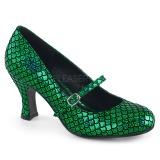 Grøn 7,5 cm MERMAID-70 pumps sko med lave hæle
