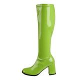 Grøn Lak 8,5 cm Funtasma GOGO-300 Dame Støvler
