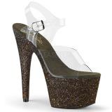 Grøn glimmer 18 cm Pleaser ADORE-708HMG poledance sko