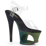 Grøn glimmer 18 cm Pleaser MOON-708OMBRE poledance sko