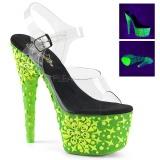 Grøn neon 18 cm Pleaser ADORE-708NSK poledance sko