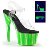 Grøn neon 18 cm Pleaser ADORE-708UVP poledance sko