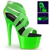 Grøn neon 18 cm Pleaser ADORE-769UV poledance sko