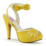 Gul 11,5 cm Pinup BETTIE-01 højhælede sandaler til kvinder