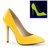 Gul Neon 13 cm AMUSE-20 Dame Pumps Stileth�le Sko