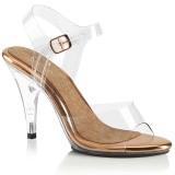 Guld 10 cm CARESS-408 højhælede sandaler til kvinder