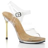 Guld 11,5 cm CHIC-08 Sandaler med stiletter hæle