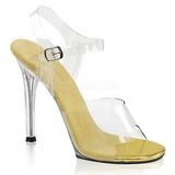 Guld 11,5 cm FABULICIOUS GALA-08 Fest sandaletter med høje hæl