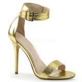 Guld 13 cm Pleaser AMUSE-10 højhælede sandaler til kvinder
