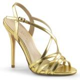 Guld 13 cm Pleaser AMUSE-13 højhælede sandaler til kvinder