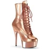 Guld 15 cm DELIGHT-1020 pleaser ankelstøvler med plateau