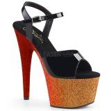 Guld 18 cm ADORE-709OMBRE glitter plateau sandaler sko