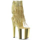 Guld 20 cm XTREME-1017RSF ankelstøvler til damer med frynser