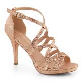 Guld 9,5 cm DAPHNE-42 Sandaler med stiletter hæle