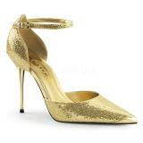 Guld Glimmer 10 cm APPEAL-21 stiletter pumps med metal hæl